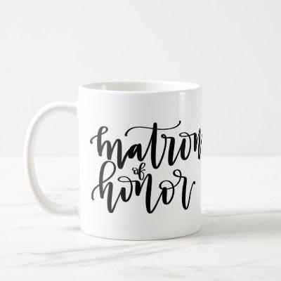 Matron of Honor Calligraphy Mug