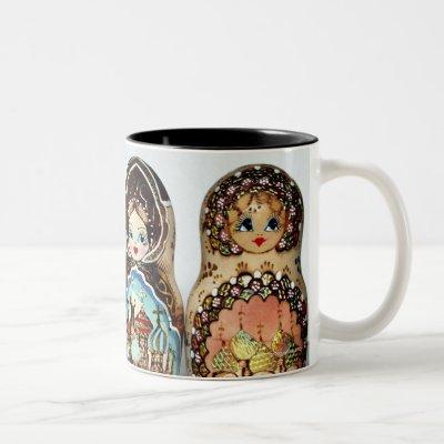 Matryoshkas Two-Tone Coffee Mug