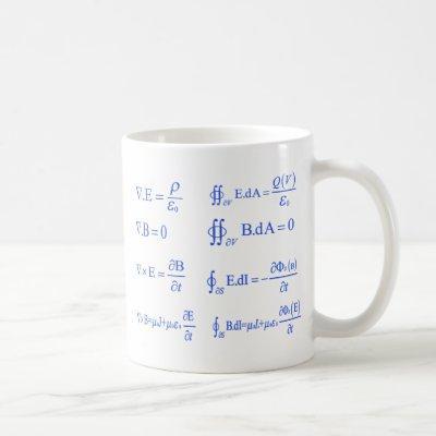 maxwell physics equation coffee mug