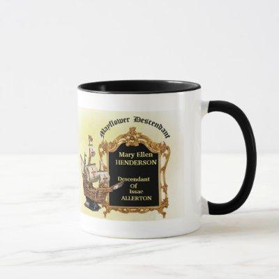 Mayflower Descendant Genealogy Mug