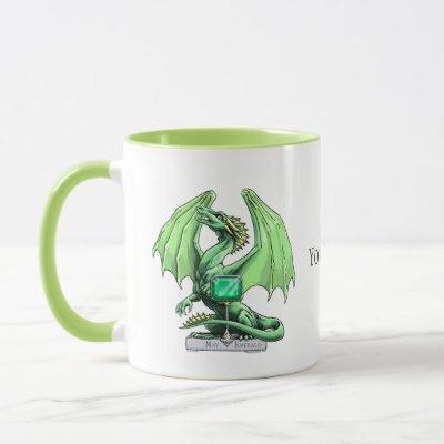 May's Birthstone Dragon: Emerald Mug