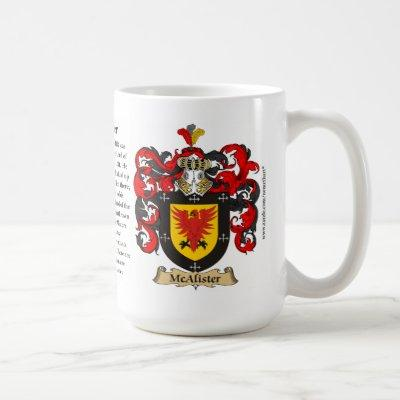 McAlister, the Origin, the Meaning and the Crest Coffee Mug