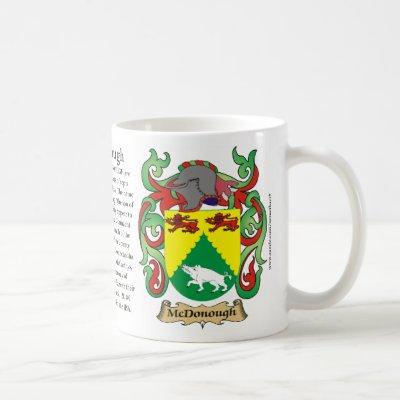 McDonough, the Origin, the Meaning and the Crest M Coffee Mug