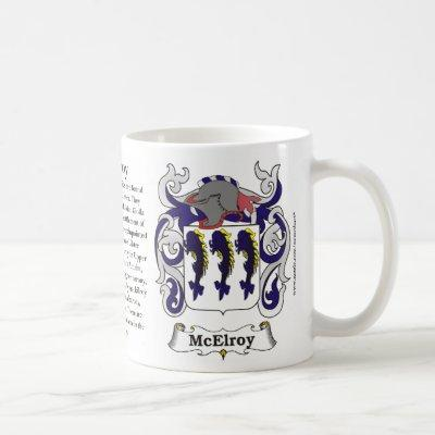 McElroy Family Coat of Arms Mug