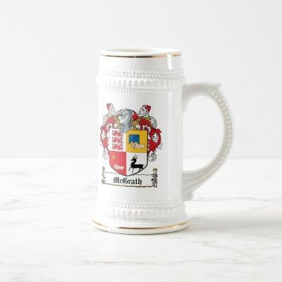 McGrath Family Crest Beer Stein
