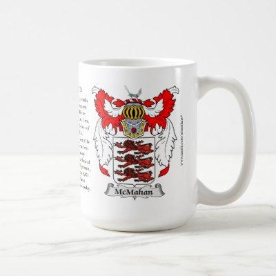 McMahan, the Origin, the Meaning and the Crest Coffee Mug