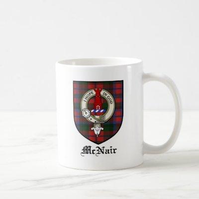 McNair Clan Crest Badge Tartan Coffee Mug