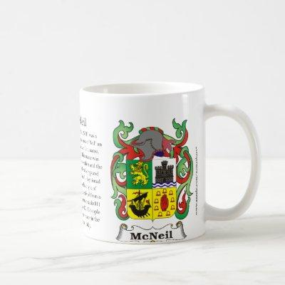 McNeil, the origin, meaning and the crest Coffee Mug