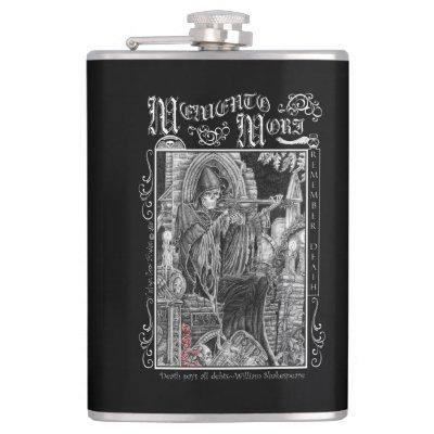 Memento Mori Whiskey Flask
