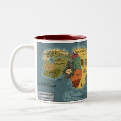 Memory Map Land Mug