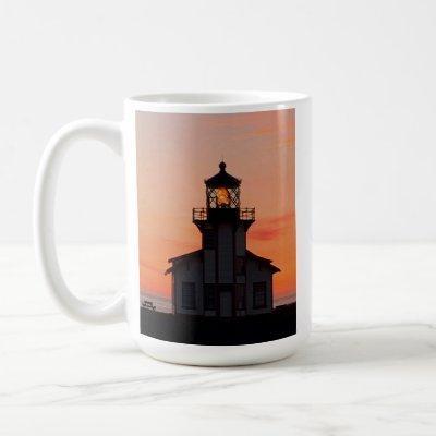 Mendocino Lighthouse Sunset Coffee Mug