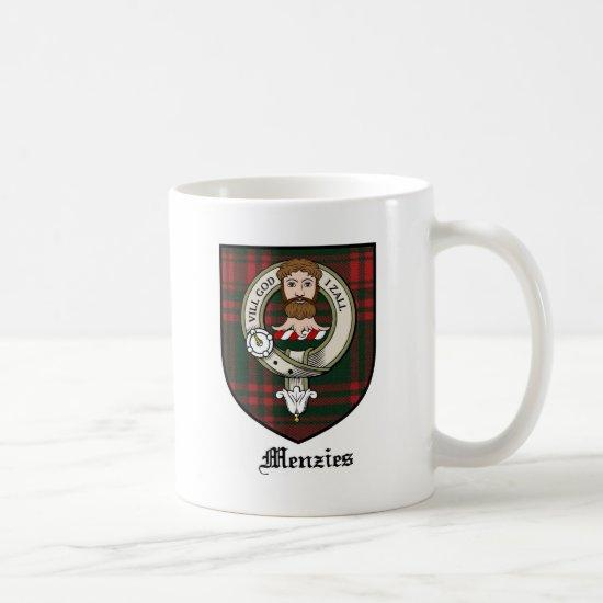 Menzies Clan Crest Badge Tartan Coffee Mug