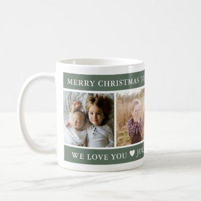 Merry Christmas Best Grandpa Custom Coffee Mug