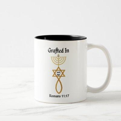 Messianic Grafted In seal w/Sheen Romans 11 17 Two-Tone Coffee Mug