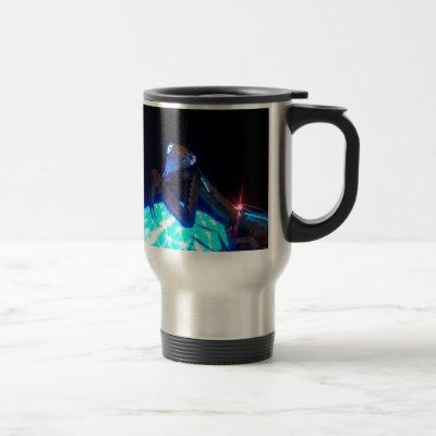 metal praying mantis - 1.jpg travel mug