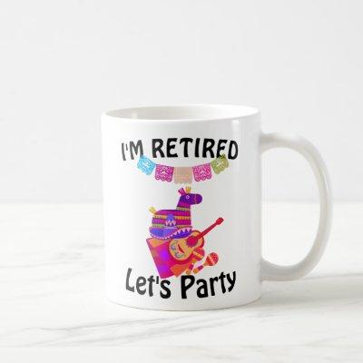 Mexican Fiesta Style Retirement Party Pinata Coffee Mug