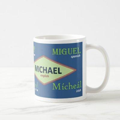 Michael International Name Mug