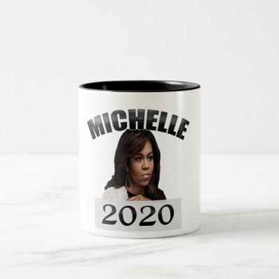 Michelle Obama for President 2020 Two-Tone Coffee Mug