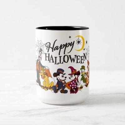 Mickey and Friends   Happy Halloween Two-Tone Coffee Mug