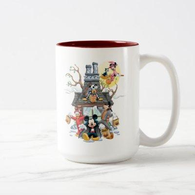Mickey and Friends Haunted House Two-Tone Coffee Mug