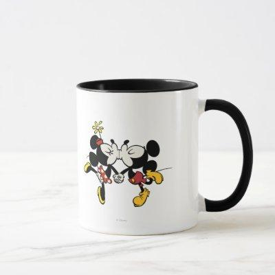 Mickey and Minnie Kissing Mug