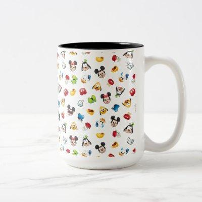 Mickey & Friends Emoji Pattern Two-Tone Coffee Mug