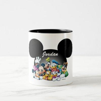 Mickey & Friends | Mickey Ears - Add Your Name Two-Tone Coffee Mug