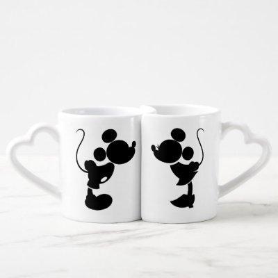 Mickey & Minnie Wedding   Silhouette Coffee Mug Set