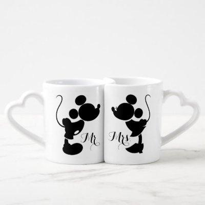 Mickey & Minnie Wedding | Silhouette Coffee Mug Set