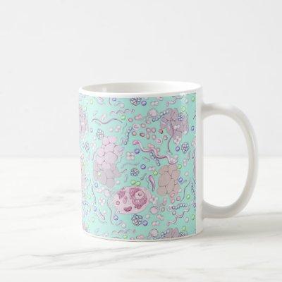 Microbiology in Blue Coffee Mug