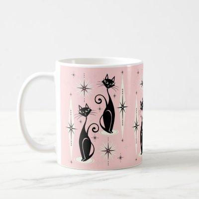 Mid Century Meow Retro Atomic Cats ©studioxtine Coffee Mug