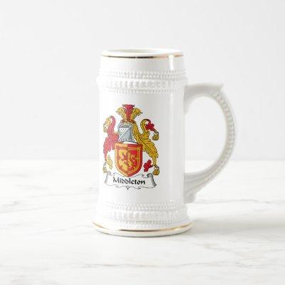 Middleton Family Crest Beer Stein