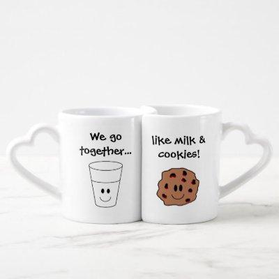 """Milk & Cookies"" Nesting Mugs"
