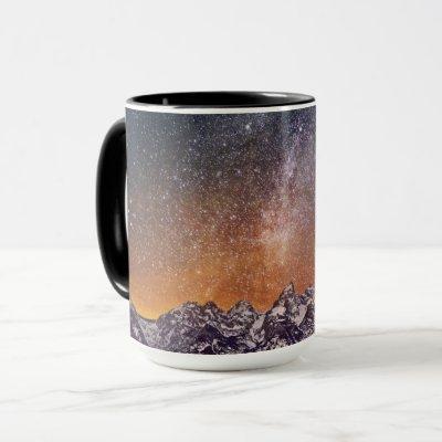Milky Way over Grand Teton Mug