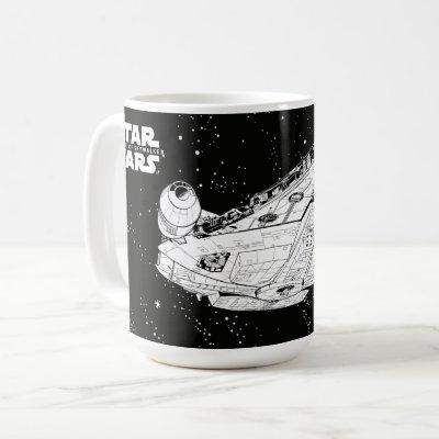 Millennium Falcon In Space Coffee Mug