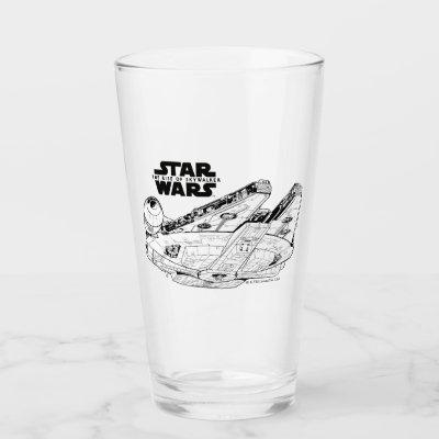 Millennium Falcon In Space Glass