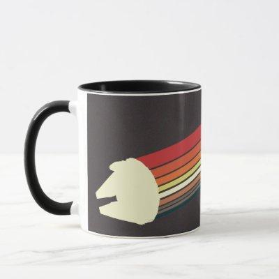 Millennium Falcon Retro Rainbow Graphic Mug