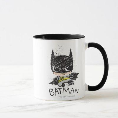 Mini Classic Batman Sketch Mug