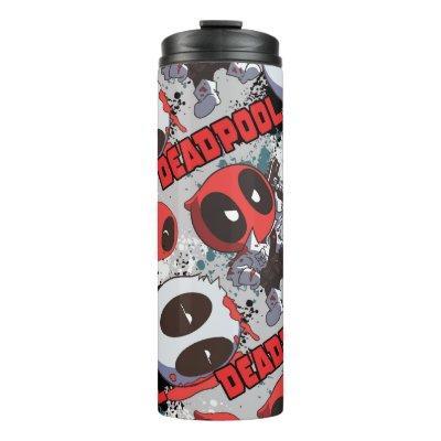 Mini Deadpool Imposter Pattern Thermal Tumbler