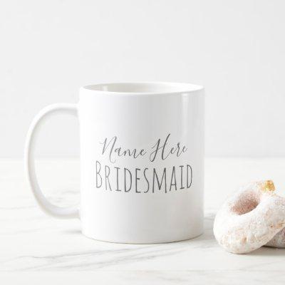Minimalist Bridesmaid Mug