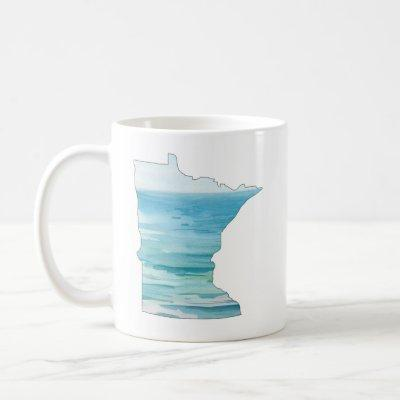 Minnesota Watercolor Lake Mug