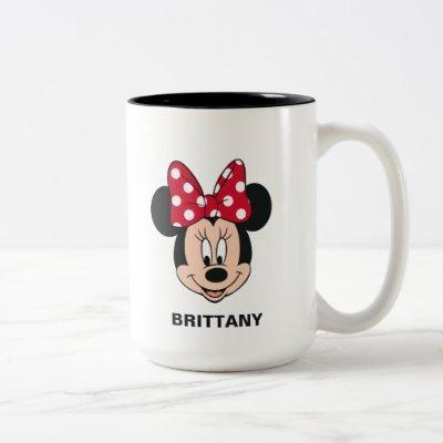Minnie Mouse | Head Logo Two-Tone Coffee Mug