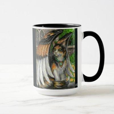 MIschief Winged Cat Mug