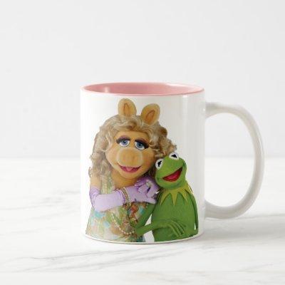 Miss Piggy and Kermit Two-Tone Coffee Mug