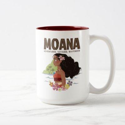 Moana   Adventurer, Voyager, Wayfinder Two-Tone Coffee Mug