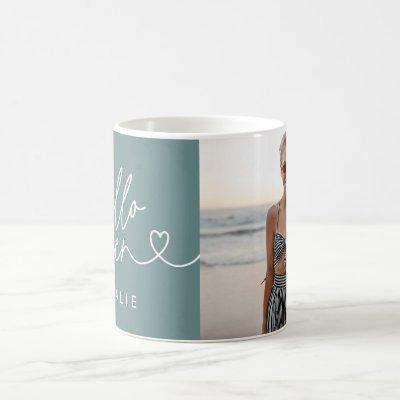 Modern 16th birthday simple stylish elegant script coffee mug