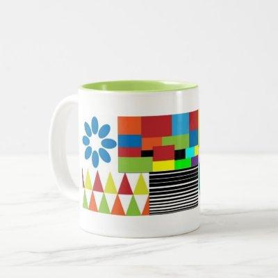 modern art two tone classic mug
