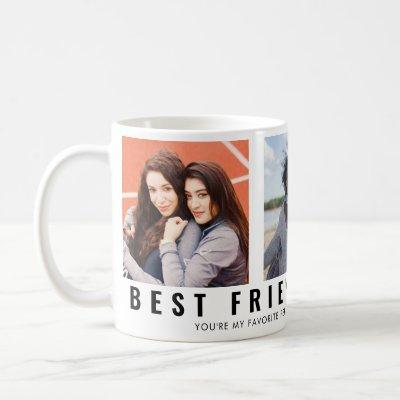 Modern Best Friends Forever BFF 3 Photo Collage Coffee Mug