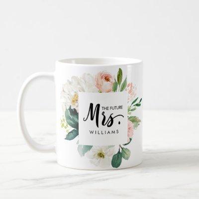 Modern Blush | WEDDING  THE future MRS Typography Coffee Mug
