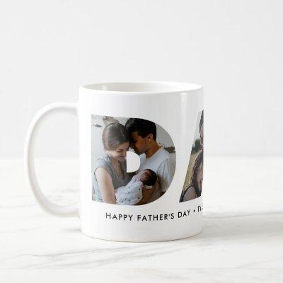 Modern DAD Daddy Photo Collage Cutout Father's Day Coffee Mug